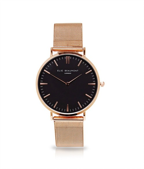 Damenuhr Oxford Small Mesh Rose Gold by Elie Beaumont