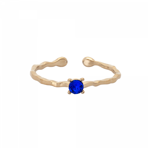 Ada Majestic Blau Ring by Lily and Rose
