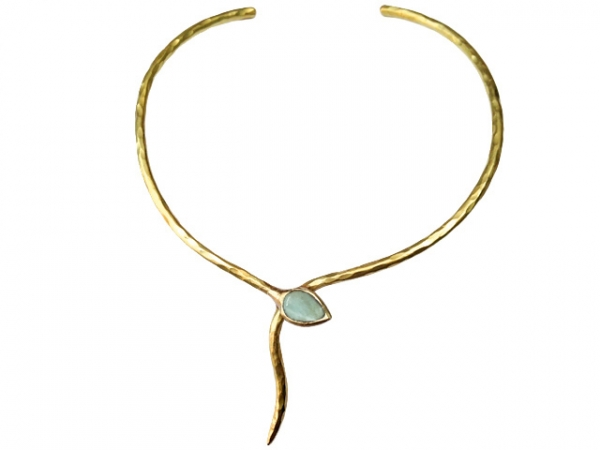 Collier Aquamarin Snake