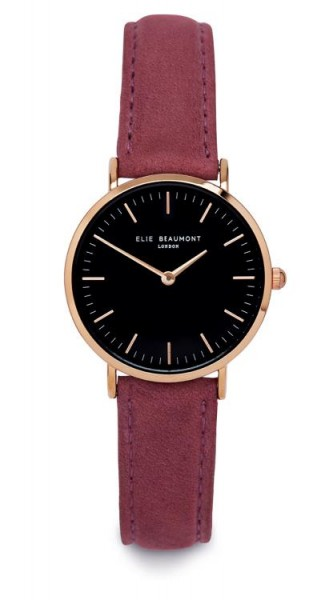 Oxford Small Black Dial/Pink von Elie Beaumont