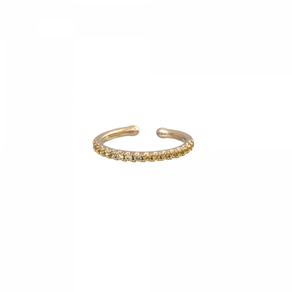 Kennedy Kristall Gold Ring by Lily and Rose