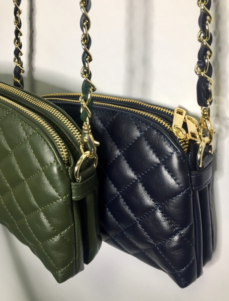Crossbody quilted leather bag